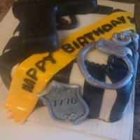 Police Officer's Birthday Police Officer's Birthday, all fondant