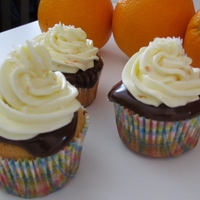 So Good Amaretto cupcake with chocolate ganache and orange IMBC