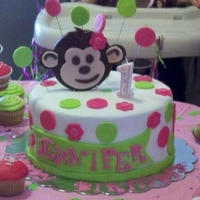 Modern Monkey Birthday Cake This cake was made for my first real paying customer :) its a 3 layer chocolate fudge cake with chocolate pudding filling, buttercream and...