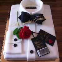 Shirt Cake This is my 10th cake and first shirt cake. I've made it for my friend's husband. It is red velvet with cheese cream. Everything...