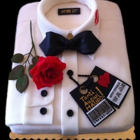 My Name Is Bond... James Bond's Shirt Cake... ;-D This is my secon one shirt cake. One of my clients ask me to do this cake for her fiance. Everything (except tape and flower wire): rose...