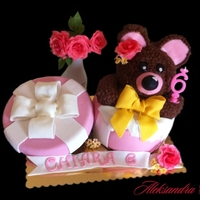 Box With Teddy Bear For Chiara It was a cake for 6th birthday of my doughter Chiara. It was inspired by Alejandra's Teddy by smcakes. Thank you for your explanation....