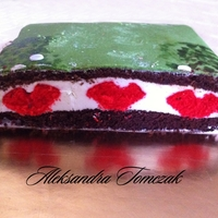 Red Hearts Anniversary Cake