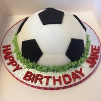 Football Cake. My first ever cake. Made for my sons 7th birthday.
