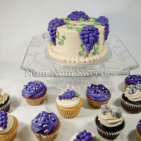 Vineyard Themed Wedding Cupcakes And Cutting Cake Vineyard themed Wedding Cupcakes and Cutting Cake.