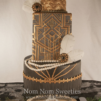 Great Gatsby/art Deco Cake My cake for the Marvelous Molds Onlays Contest!