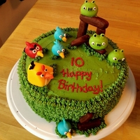 Angry Birds This was a birthday cake for my son who loves angry birds