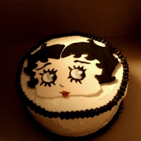 Betty Boop Betty Boop cake I threw together for my hubbies grandmother who loves this cartoon!