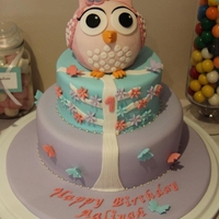 Sitting Owl I made this cake for my niece's 1st Birthday cake for her owl themed party.