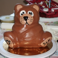 Fondant Teddy Bear 3D chocolat cake covered with fondant