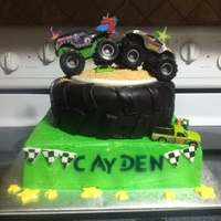 Monster Truck Monster truck birthday cake.