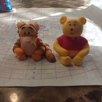 Winnie The Pooh Bear & Tiger Figurines Cake Toppers for Baby Shower