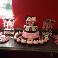 Minnie Mouse Cake, Cake Pops, Cupcakes, And Cookies Minnie MouseCookiesCake PopsCupcakes