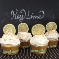 Key Lime Cupcake Black white and chalkboard background for key lime cupcakes. Key lime flavored cake with whipped lime topping, garnished with graham...