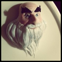 Rise Of The Guardians-Santa Topper In Progres I have lot more work with this topper, but love his face so much, so I decided to share it with you :)