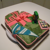 Backpack Birthday Cake This is a camouflage backpack for a girl. On it are a flag for the Philadelphia Eagles and a Florida Gator plus some other things she...