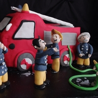 Fireman Sam Cake tried to make this a bit different and not just plonking characters next to cake