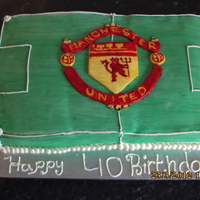 Manchester United Cake Man Utd cake it was nearly a meter long and 4 inches thick, the crest was hand painted so get all the detail on it properly.