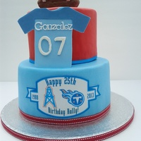 Tennessee Titans Cake For My Boyfriends Birthday Tennessee Titans cake for my boyfriend's birthday.