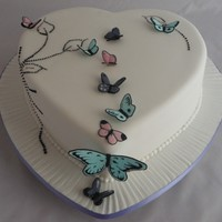Hearty Butterflies We were asked to make this cake for a lovely couples engagement.