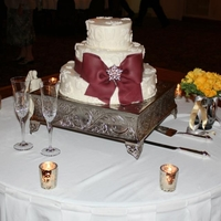 Bow Wedding cake with fondant bow and lace appliques