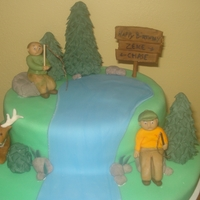 Hunting And Fishing Hunting and Fishing, inspiration from a picture of a cake that client brought to me.