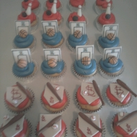 Baseball, Basketball, Bowling Cupcakes St Louis Cardinals Baseball, Illinois Basketball and Bowling cupcakes