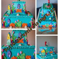 Little Mermaid Cake For 1St Birthday Vanilla Cake Filled With Strawberry Mousse And Covered In Buttercream Seashells Starfish Pearls *Little Mermaid Cake for 1st birthday.. Vanilla cake filled with strawberry mousse and covered in buttercream. Seashells, starfish, pearls...