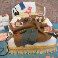 Messy Bed 21St Kerrys 21st Birthday Cake - Messy ed room theme. Blue carpet/brown duvet