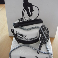 Cyclist Enthusiast Retirenment Cake Cyclist enthusiast retirenment cake.