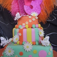 Girls Birthday Cake My Nieces Birthday Cake (twins). They emailed me a picture of what they wanted, and what colours they wanted, they also wanted feathers.....