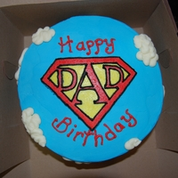 Super Dad Birthday Cake This is a lemon cake with lemon filling and lemon buttercream icing I made for my husband. I was trying to find something more masculine...