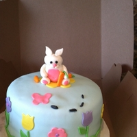Easter Bunny Cake I made this cake for my son since he is extremely allergic to milk. It's a dairy free carrot cake, covered in marshmallow fondant. I...