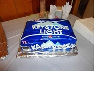 Keystone Birthday Cake   my cousins birthday- she loves keystone beer, and her house is known as Kamp Keystone