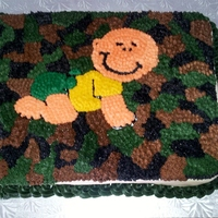 Baby Boy Camo Cake The mother wanted a camo cake with John Deere colors :)