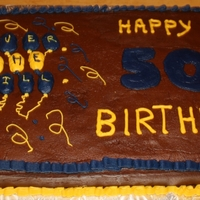 50Th Birthday Cake 50th Birthday cake done in Michigan Colors