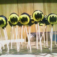 Batman Cake Pops batman cake pops