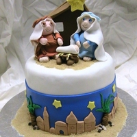Nativity Cake gum paste & fondant