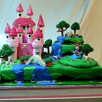 Princess Castle Cake TO much to describe...this take me 2 weeks to make!!! I am a beginner so takes me forever.
