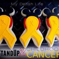 Minnie Mouse Inspired Childhood Cancer Awareness Ribbon Cookies Minnie Mouse inspired Childhood Cancer Awareness Ribbon Cookies!