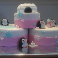 Penguin Cake One of my favorites - penguins and an igloo - for my niece