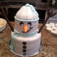 Snowman   Did this cake for a friend's daughter. It was a surprise party! So exciting! I love snowmen!