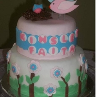 Birdie Baby Shower Birdie baby shower cake for my cousin!