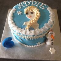 Elsa/frozen Cake Elsa Birthday Cake. All fondant decorations