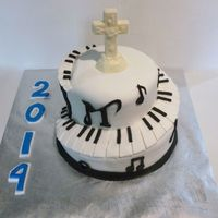 Graduation Cake A cake for a music lover going to McNally Smith in the fall