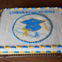 Graduation Cake Chocolate cake with vanilla BC