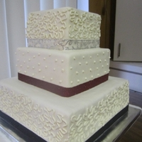 My First Wedding Cake WASC cake with vanilla/almond SM. BC.