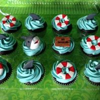 Shark Themed Cupcake Toppers shark themed cupcake / toppers