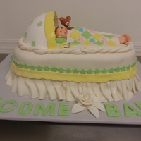 "This Baby Shower Cake Was Made For A Couple Who Are Both Over 65 And They Wanted The Long Legs With The Feet Hanging Out As A Joke The Ba  This baby shower cake was made for a couple who are both over 6'5"" and they wanted the long legs with the feet hanging out as a..."