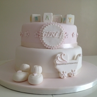 Baby Shower Cake Two Tier Baby Shower Cake